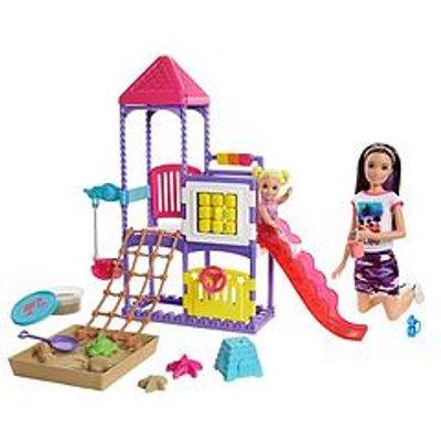 Barbie Skipper Babysitters Inc. Climb &Lsquo;N Explore Playground Dolls &Amp; Playset