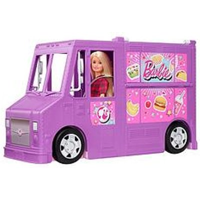 Barbie Fresh 'N' Fun Food Truck With Multiple Play Areas &Amp; 30+ Realistic Play Pieces