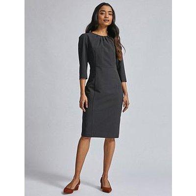 Dorothy Perkins Petite 3/4 Sleeve Dress - Black