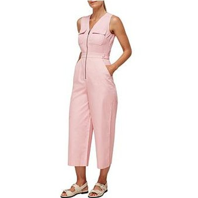 Whistles Utility Culotte Jumpsuit - Pink