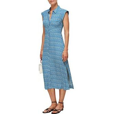 Whistles Astrix Floral Blue Dress - Multi