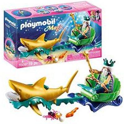 Playmobil Playmobil 70097 Magic Mermaids Sea King With Shark-Drawn Carriage