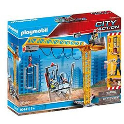 Playmobil Playmobil 70441 City Action Construction Crane With Remote Control