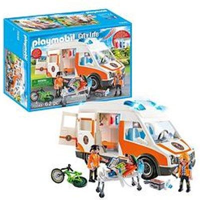 Playmobil Playmobil 70049 City Life Hospital Ambulance With Lights And Sound