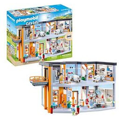 Playmobil Playmobil 70190 City Life Large Furnished Hospital With Lift
