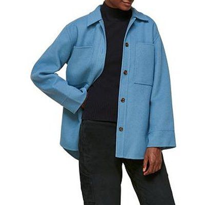 Whistles Classic Wool Overshirt - Blue