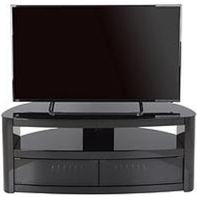 Avf Burghley Affinity Curved 1250 Tv Stand - Black/Black - Fits Up To 65 Inch Tv