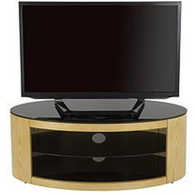 Avf Buckingham Oval Affinity 1100 Tv Stand - Oak/Black - Fits Up To 55 Inch Tv