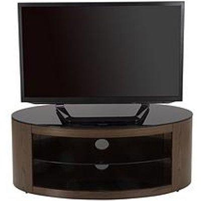 Avf Buckingham Oval Affinity 1100 Tv Stand - Walnut/Black - Fits Up To 55 Inch Tv