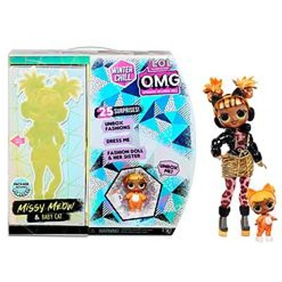 L.O.L Surprise! O.M.G. Winter Chill Missy Meow Fashion Doll &Amp; Baby Cat Doll With 25 Surprises