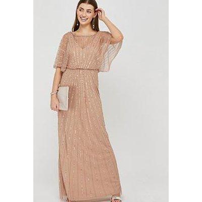 Monsoon Angelina Embellished Maxi Dress - Pink