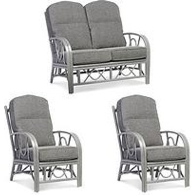 Desser Grey Bali Conservatory Suite (Sofa &Amp; Two Chairs)