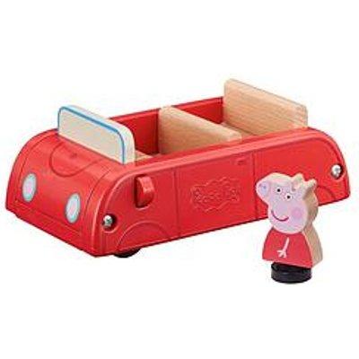 Peppa Pig Peppas Wood Play Family Car & Figure