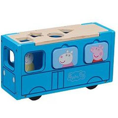 Peppa Pig Peppa'S Wooden Play School Bus Shape Sorter