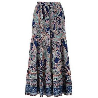 Monsoon Paisley Print Midi Skirt - Blue