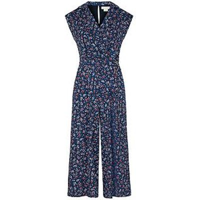 Monsoon Dione Ditsy D Ring Jumpsuit - Navy