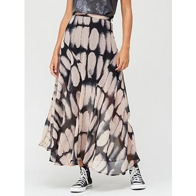 Religion Joy Patterned Maxi Skirt - Pink