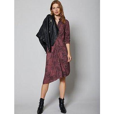 Mint Velvet Liv Animal Print Twist Front Shirt Dress