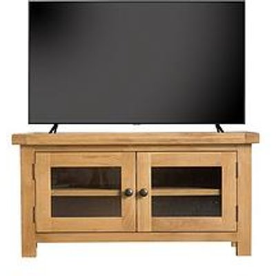 K-Interiors Alana Tv Unit With Glass Doors - Fits Up To 46 Inch Tv