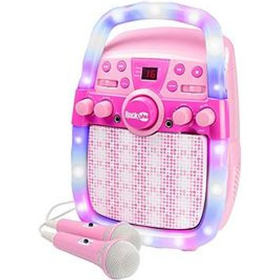 Rockjam Rockjam Cd & Bluetooth Karaoke Machine With Two Microphones, Echo Control & Led Light-Show