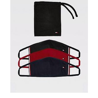 Tommy Hilfiger Face Coverings (3 Pack) - Black/Navy/Red