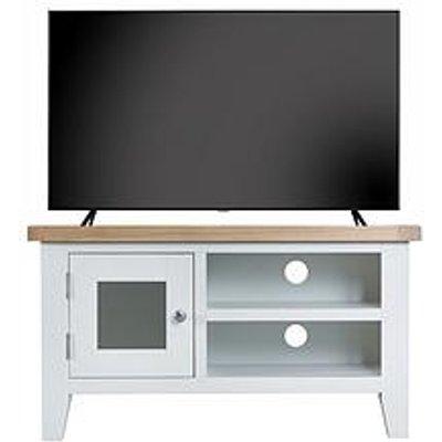 K-Interiors Harrow Ready Assembled Tv Unit - Fits Up To 45 Inch Tv - White/Oak