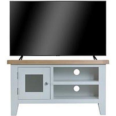 K-Interiors Harrow Ready Assembled Tv Unit - Fits Up To 45 Inch Tv - Grey/Oak