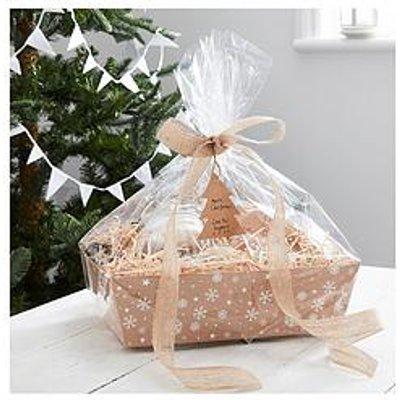 Ginger Ray Kraft Christmas Present Hamper Basket Making Kit