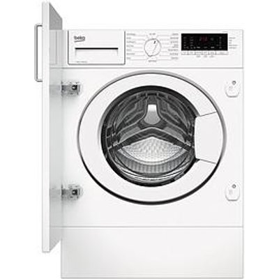 Beko Wtik72111 7Kg Load, 1200 Spin Built-In Washing Machine - White - Washing Machine With Installation