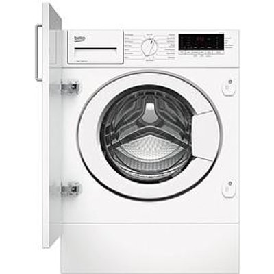 Beko Beko Wtik74111 7Kg Load, 1400 Spin Built-In Washing Machine - White - Washing Machine Only