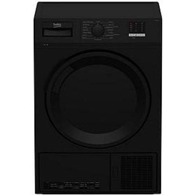Beko Dtlce70051B 7Kg Load, Full Size Condenser Sensor Dryer - Black