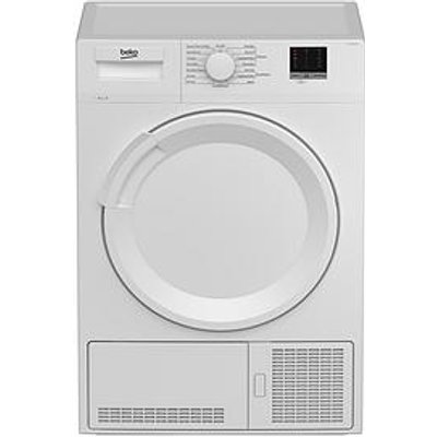 Beko Dtlce80051W 8Kg Load Full Size Condenser Sensor Tumble Dryer - White