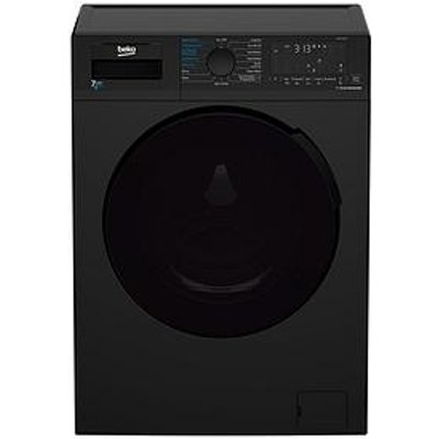 Beko Wdl742431B 7Kg Wash, 4Kg Dry, 1200 Spin Washer Dryer - Black