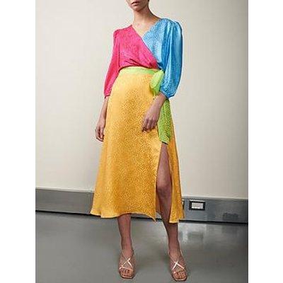 Olivia Rubin Paloma Colourblock Wrap Dress - Multi