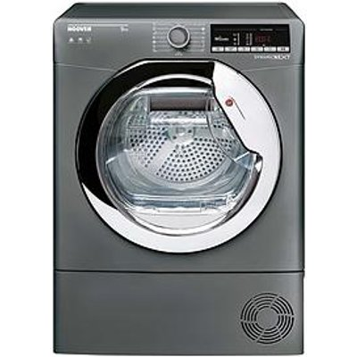 Hoover Dynamic Next Dxoc9Tcer 9Kg Load, Aquavision Condenser Tumble Dryer With One Touch - Graphite/Chrome