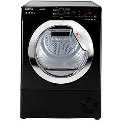 Hoover Dynamic Next Dxoh9A2Tceb 9Kg Load, Aquavision, Heat Pump Tumble Dryer With One Touch - White/Chrome