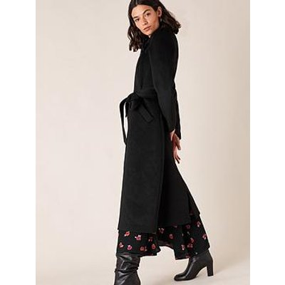 Monsoon Maxine Belted Wrap Coat