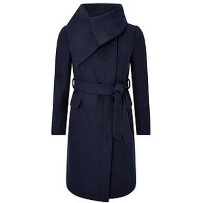 Monsoon Keryn Wrap Collar Belted Coat