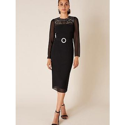 Monsoon Donatella Embellished Shift Dress - Black
