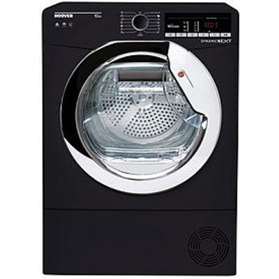 Hoover Dynamic Next Dxoc10Tceb 10Kg Load Aquavision Condenser Tumble Dryer With One Touch - Black/Chrome