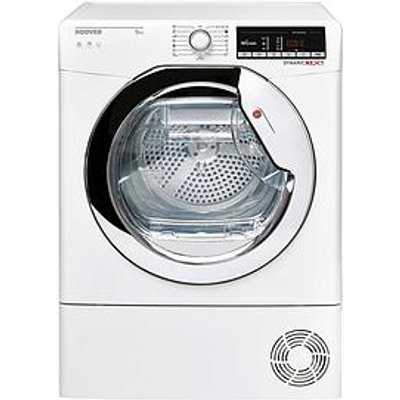 Hoover Dynamic Next Dxoc9Tce 9Kg Load Aquavision Condenser Tumble Dryer With One Touch - White/Chrome