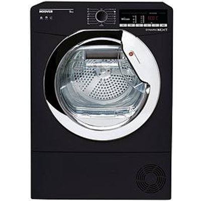 Hoover Dynamic Next Dxoc9Tceb 9Kg Load, Aquavision Condenser Tumble Dryer With One Touch - Black/Chrome