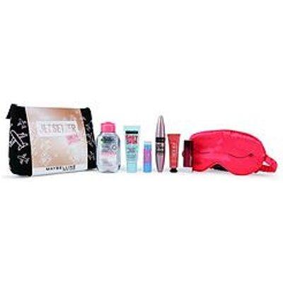 Maybelline Makeup Kit Jet Setter Primer, Mascara, Lipstick, Blusher &Amp; Micellar Water Christmas Gift Set Travel Kit For Her
