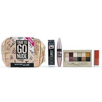 Maybelline Makeup Gift Set Dare To Go Nude Mascara, Eyeliner, Lipstick &Amp; Eyeshadow Palette Christmas Gift Set For Her