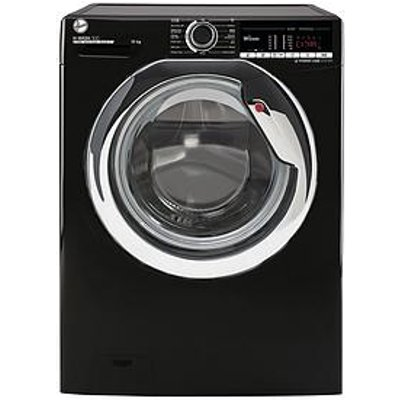 Hoover H-Wash 300 H3Ws4105Tacbe-80 10Kg Load, 1400 Spin Washing Machine - Black