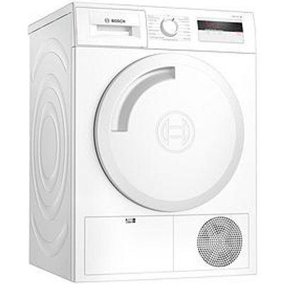 Bosch Wth84000Gb 8Kg Load, Heat Pump Tumble Dryer - White / Silver Door