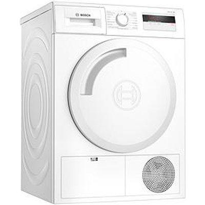 Bosch Wth84000Gb 8Kg Load, Heat Pump Tumble Dryer - White / Silver Door