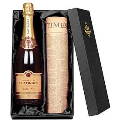 Taittinger Rose Champagne And Original Newspaper Gift Set