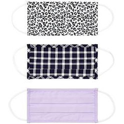 Accessorize 3 X Multi-Pack Cotton Face Covering (Lcp) - Multi