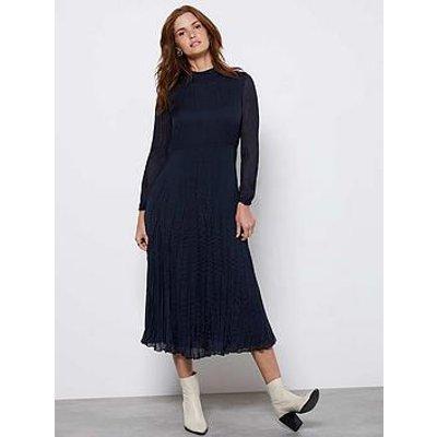 Mint Velvet Crinkle Effect Midi Dress